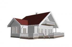 Drewniane domy mieszkalne